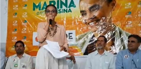 Marina Silva lança programa em Teresina. (reprodução redes sociais)