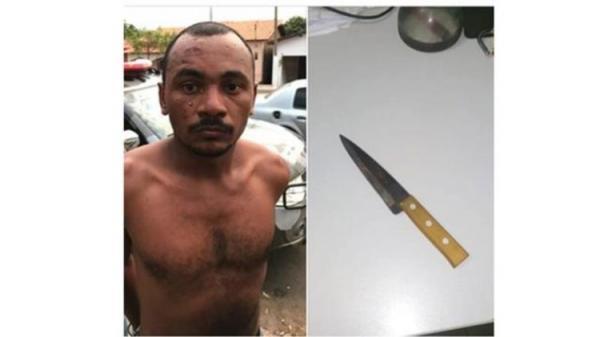 PM prende suspeito de matar amigo após discussão em bar no Piauí (Foto: Reprodução/V1)