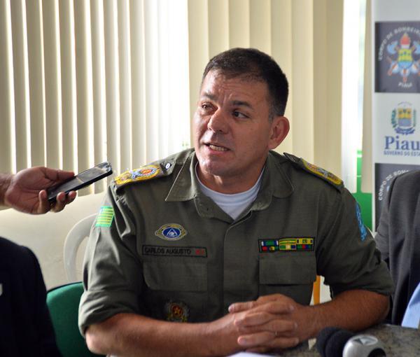 O coronel Carlos Augusto, comandante-geral da PM-PI (Foto: Elias Fontinele / O DIA)
