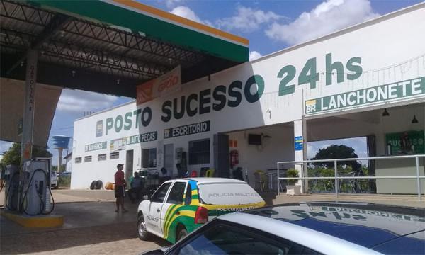 Posto de combustível assaltado.(Foto:Polícia Civil)