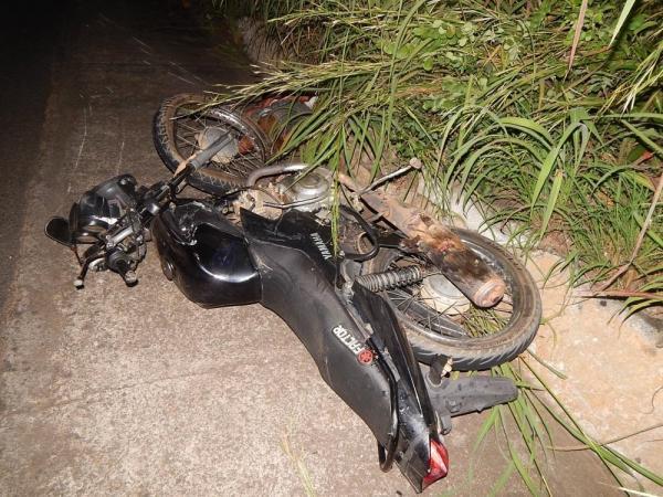 Moto do acidente (Imagem: Divulgação PM)