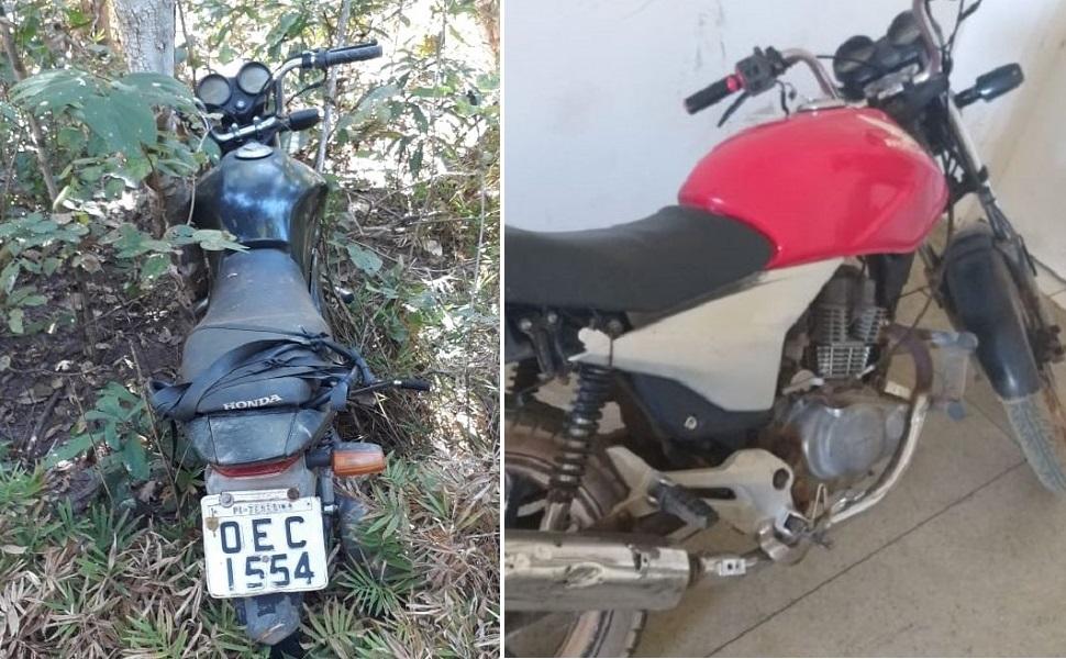 Motocicleta encontradas (Imagem: Divulgação PM)