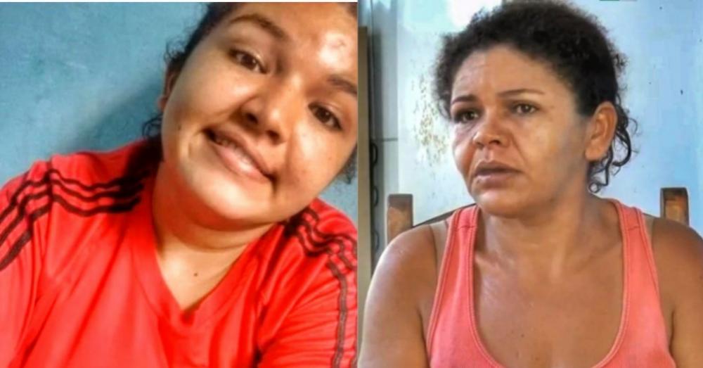 Fabrícia mãe da criança e Avó da criança torturada