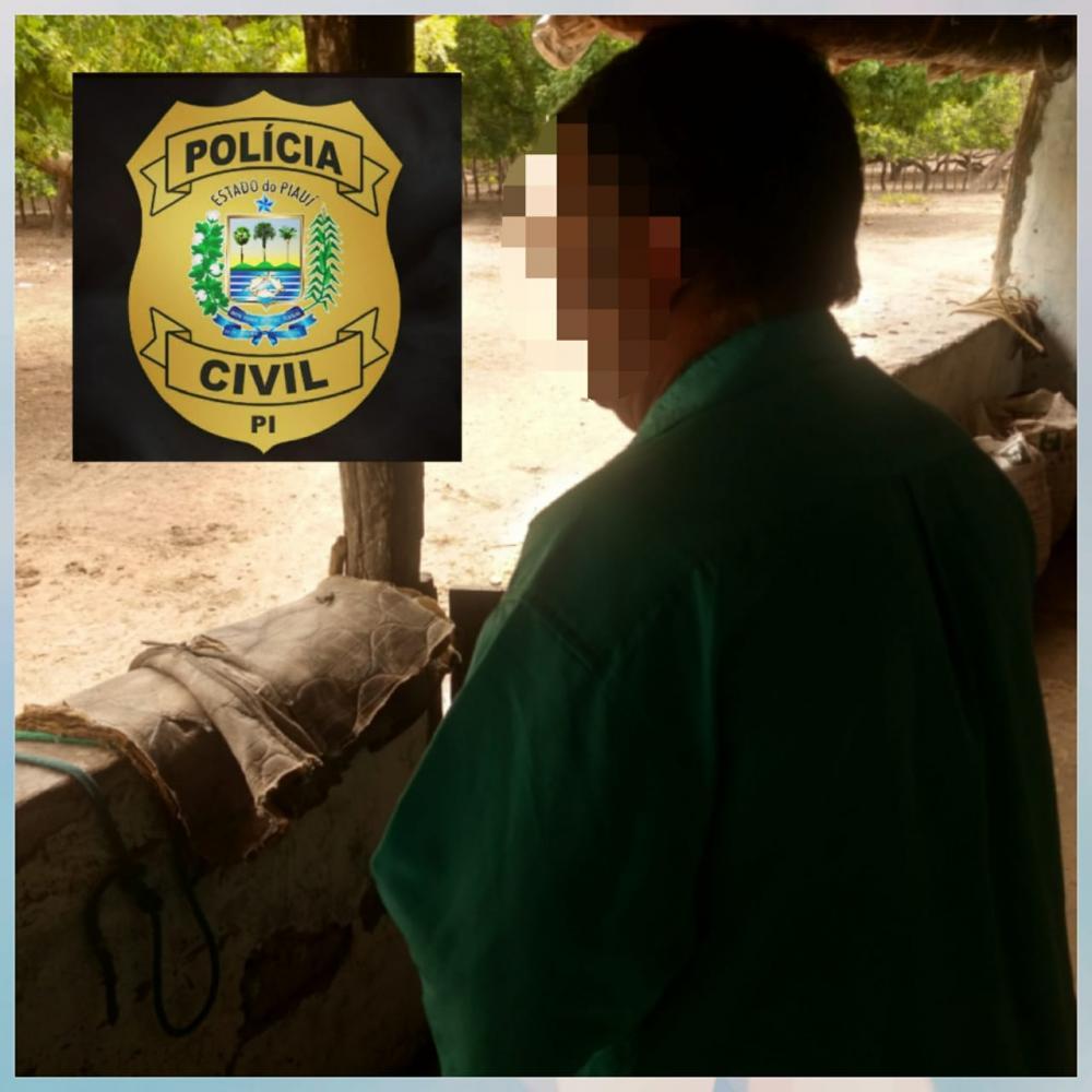 Policia Civil de Piripiri prende suspeito de estuprar duas netas e ter engravidado uma