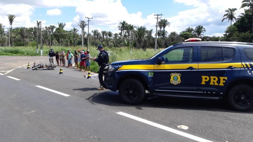 Homem morre em acidente entre moto e caminhonete na BR 343 em São Pedro do Piauí