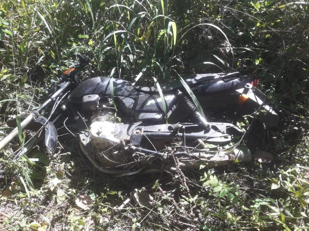 PM de Agricolândia recupera motocicleta roubada, com Placa de Água Branca