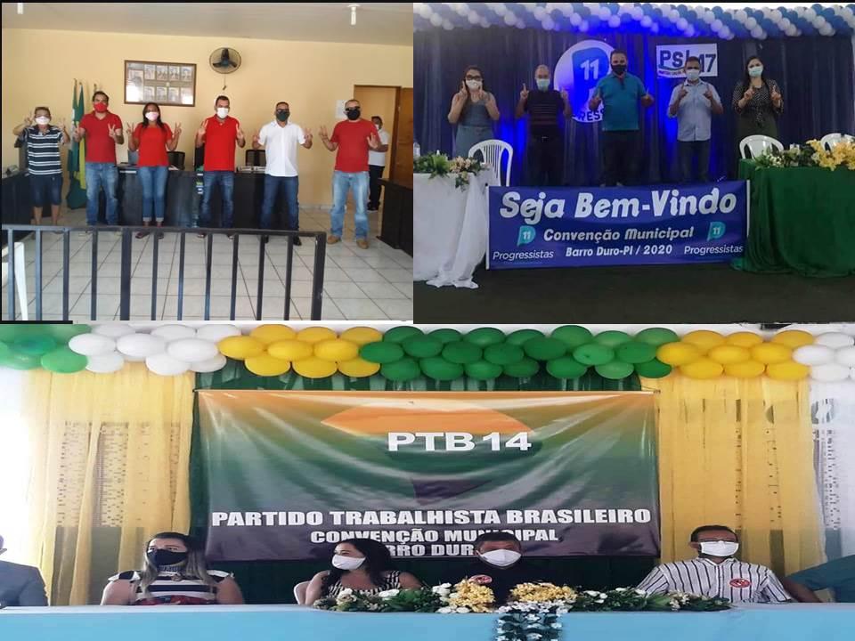 Convenções partidárias movimentaram Barro Duro no fim de semana