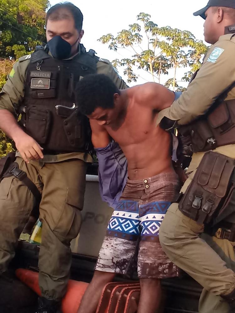 Suspeito de estuprar avó de 78 anos e a irmã é preso em Barras Foto: Divulgação/PM