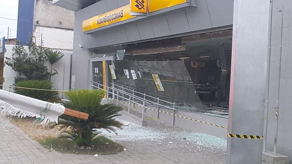 Agência do BB na Avenida João XXIII é alvo de criminosos Foto: Reprodução/WhatsApp