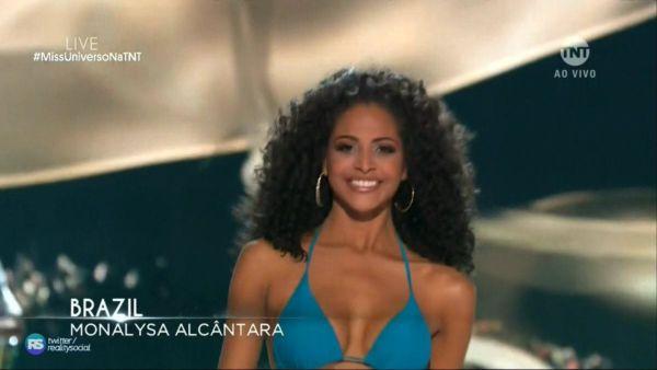 Miss Brasil, a piauiense Monalysa Alcântara ficou no Top-10 do Miss Universo (Foto: Reprodução)
